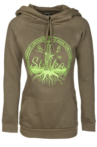"HP long Hood Girl ""Shaka"" olive"
